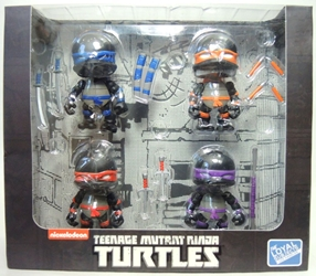 TMNT Teenage Mutant Ninja Turtles 3 inch Figures 4-pack (black)
