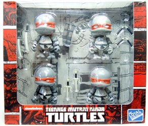 TMNT Teenage Mutant Ninja Turtles 3 inch Figures 4-pack (grey)