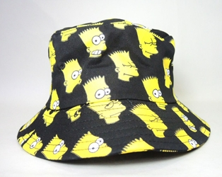The Simpsons - Black Canvas Hat with Bart Simpson Heads China, The Simpsons, Hats, 2016, comedy, tv show