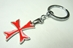 Assassins Creed alloy keychain - Red Cross Insignia of the Templars - 9597-9552CCCVTM