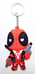 Deadpool 3 inch soft plastic keychain China, Deadpool, Keychains, 2016|Color~black|Color~red, comedy, movie