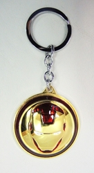Iron Man Spinning Mask alloy keychain (gold) China, Iron Man, Keychains, 2016|Color~red|Color~gold, scifi, movie