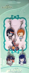 Kill La Kill - Set of 5 clip-on 1 inch charms China, Kill La Kill, Keychains, 2016|Color~black|Color~brown|Color~fleshtone, anime