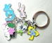 Pokemon alloy keychain with 5 pokemon charms (Mew+) - 9628-9583CCCFTT