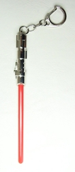 Star Wars 5 inch Lightsaber alloy keychain (chrome/red) China, Star Wars, Keychains, 2016|Color~chrome|Color~red, scifi, movie