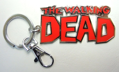 The Walking Dead Logo alloy keychain China, Walking Dead, Keychains, 2016|Color~red|Color~chrome, horror, halloween, tv show