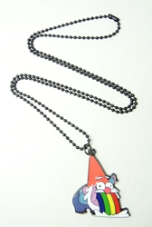 Gravity Falls alloy pendant necklace - Steve The Gnome China, Gravity Falls, Necklace, 2016|Color~red|Color~white|Color~green, adventure, cartoon