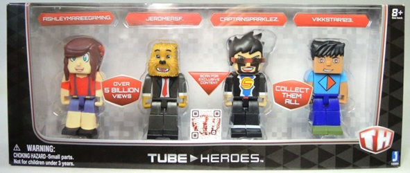 Tube Heroes 3 inch figures 4-pack Jazwares, Tube Heroes, Action Figures, 2015, superhero, video game