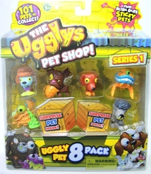 The Ugglys Pet Shop - Uggly pet 8-pack (random pet selection) Moose Toys, The Ugglys, Littlest Pet Shop, 2015, cute animals
