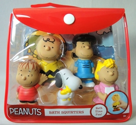 Peanuts Bath Squirters 5-pack Just Play, Peanuts, Action Figures, 2015, Christmas
