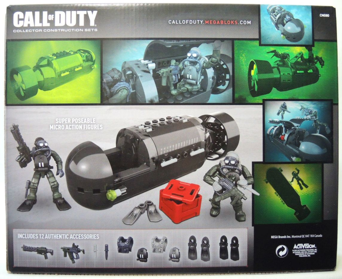 Mega Bloks Call of Duty Seal Sub Recon - 9717-9671CCCHTC
