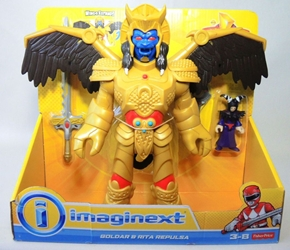 Fisher-Price Imaginext Power Rangers - Goldar & Rita Repulsa Fisher-Price, Power Rangers, Action Figures, 2015, scifi, tv show