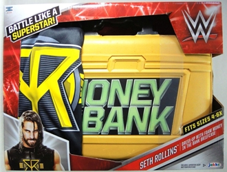 WWE Dress-up Roleplay Set - Seth Rollins Foam Money in the Bank Briefcase Jakks, WWE, Cosplay, 2016|Color~mustard, wrestling, tv show