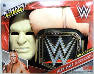 WWE Dress-up Roleplay Set - Brock Lesnar Padded Muscle Suit & Belt & Mask Jakks, WWE, Cosplay, 2016|Color~fleshtone, wrestling, tv show