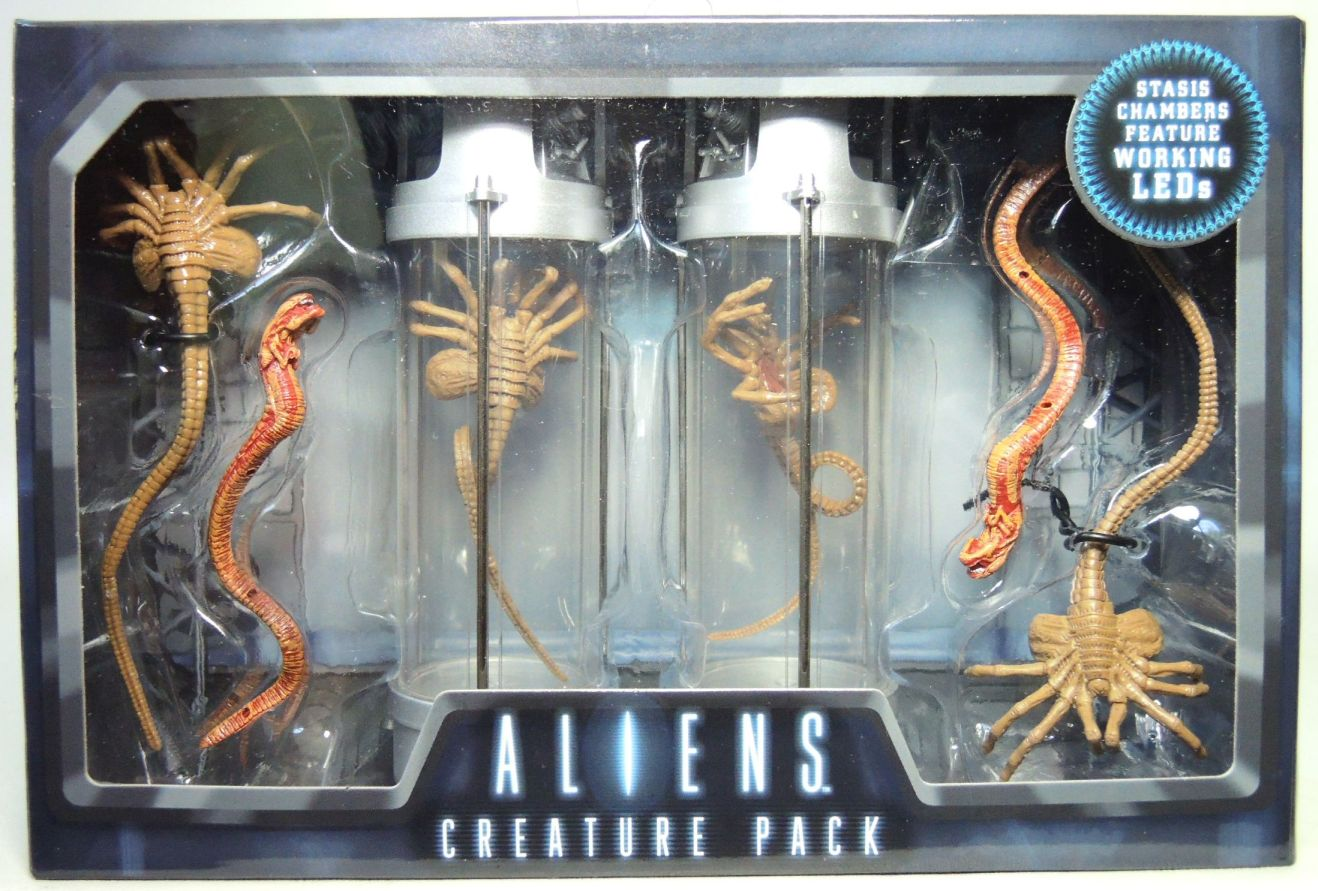 NECA Aliens Creatures Pack with 2 LED Stasis Chambers