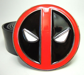 Deadpool Belt Buckle & Belt China, Deadpool, Cosplay, 2016|Color~black|Color~red, comedy, movie