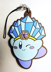 Super Mario soft plastic clip-on 2.75 inch Ice Kirby (blue) China, Super Mario Brothers, Keychains, 2016|Color~blue, anime, video game