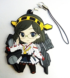 Kantai Collection soft plastic clip-on 2.5 inch Kirishima China, Kantai Collection, Keychains, 2016|Color~grey|Color~white|Color~fleshtone, anime