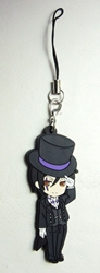 Kuroshitsuji Black Butler soft plastic clip-on 2.5 inch Sebastian China, Black Butler, Keychains, 2016|Color~black|Color~fleshtone, fantasy, japan