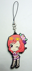 Love Live! Soft plastic clip-on 2.5 inch Maki China, Love Live!, Keychains, 2016|Color~fleshtone|Color~red|Color~pink, anime