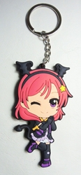 Love Live! Soft plastic 2.75 inch keychain - Maki China, Love Live!, Keychains, 2016|Color~fleshtone|Color~red|Color~purple, anime