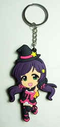 Love Live! Soft plastic 2.75 inch keychain - Nozomi China, Love Live!, Keychains, 2016|Color~fleshtone|Color~pink|Color~purple, anime