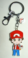 Pokemon metal alloy keychain - Ash in red jacket China, Pokemon Go, Keychains, 2016|Color~red|Color~blue|Color~fleshtone, cute animals, video game