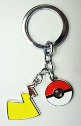 Pokemon metal alloy keychain - Pikachus Lightning Tail China, Pokemon Go, Keychains, 2016|Color~yellow, cute animals, video game