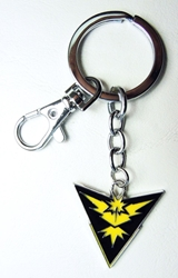 Pokemon Go metal alloy keychain - Team Instinct Emblem (yellow) China, Pokemon Go, Keychains, 2016|Color~black|Color~yellow, cute animals, video game