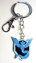 Pokemon Go metal alloy keychain - Team Mystic Emblem (blue) China, Pokemon Go, Keychains, 2016|Color~black|Color~blue, cute animals, video game
