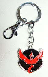 Pokemon Go metal alloy keychain - Team Valor Emblem (red) China, Pokemon Go, Keychains, 2016|Color~black|Color~red, cute animals, video game