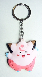 Pokemon soft plastic keychain - Clefairy China, Pokemon, Keychains, 2016|Color~pink|Color~brown, animated, game