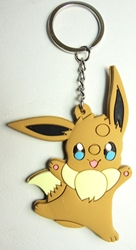 Pokemon soft plastic keychain - Eevee China, Pokemon, Keychains, 2016|Color~brown|Color~cream, animated, game