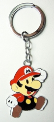 Super Mario alloy keychain 2 inch running Mario China, Super Mario Brothers, Keychains, 2016|Color~red|Color~fleshtone|Color~white, anime, video game