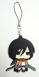 Attack on Titan soft plastic clip-on 2.25 inch SD Mikasa Ackerman China, Attack on Titan, Keychains, 2016|Color~fleshtone|Color~black|Color~brown, scifi, japan