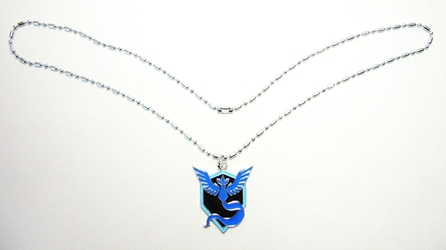 Pokemon Go metal alloy pendant necklace - Team Mystic Emblem (blue) China, Pokemon Go, Necklace, 2016|Color~black|Color~blue, cute animals, video game