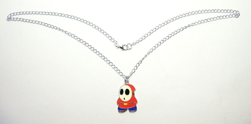 Super Mario alloy pendant necklace  1.2 inch Shy Guy China, Super Mario Brothers, Necklace, 2016|Color~red|Color~blue|Color~cream, anime, video game