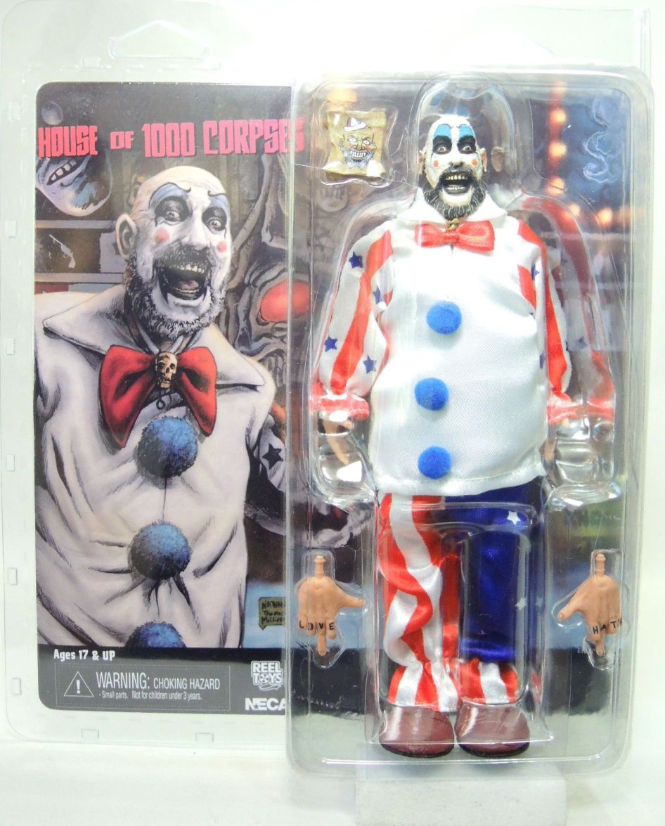NECA House of 1000 Corpses Captain Spaulding 8 inch Clothed Figure NECA, House of 1000 Corpses, Action Figures, 2016, horror, halloween, movie