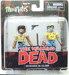 The Walking Dead: Minimates Series 5 Survivor Morgan and Geek Zombie Diamond Select, Walking Dead, Action Figures, 2014, horror, halloween, tv show