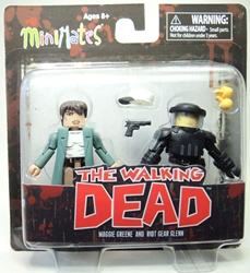 The Walking Dead: Minimates Series 5 Maggie Green and Riot Gear Glenn Diamond Select, Walking Dead, Action Figures, 2014, horror, halloween, tv show