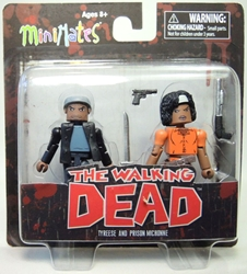 The Walking Dead: Minimates Series 5 Tyreese and Prison Michonne Diamond Select, Walking Dead, Action Figures, 2014, horror, halloween, tv show