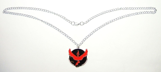 Pokemon Go metal alloy pendant necklace - Team Valor Emblem (red) China, Pokemon Go, Necklace, 2016|Color~black|Color~red, cute animals, video game