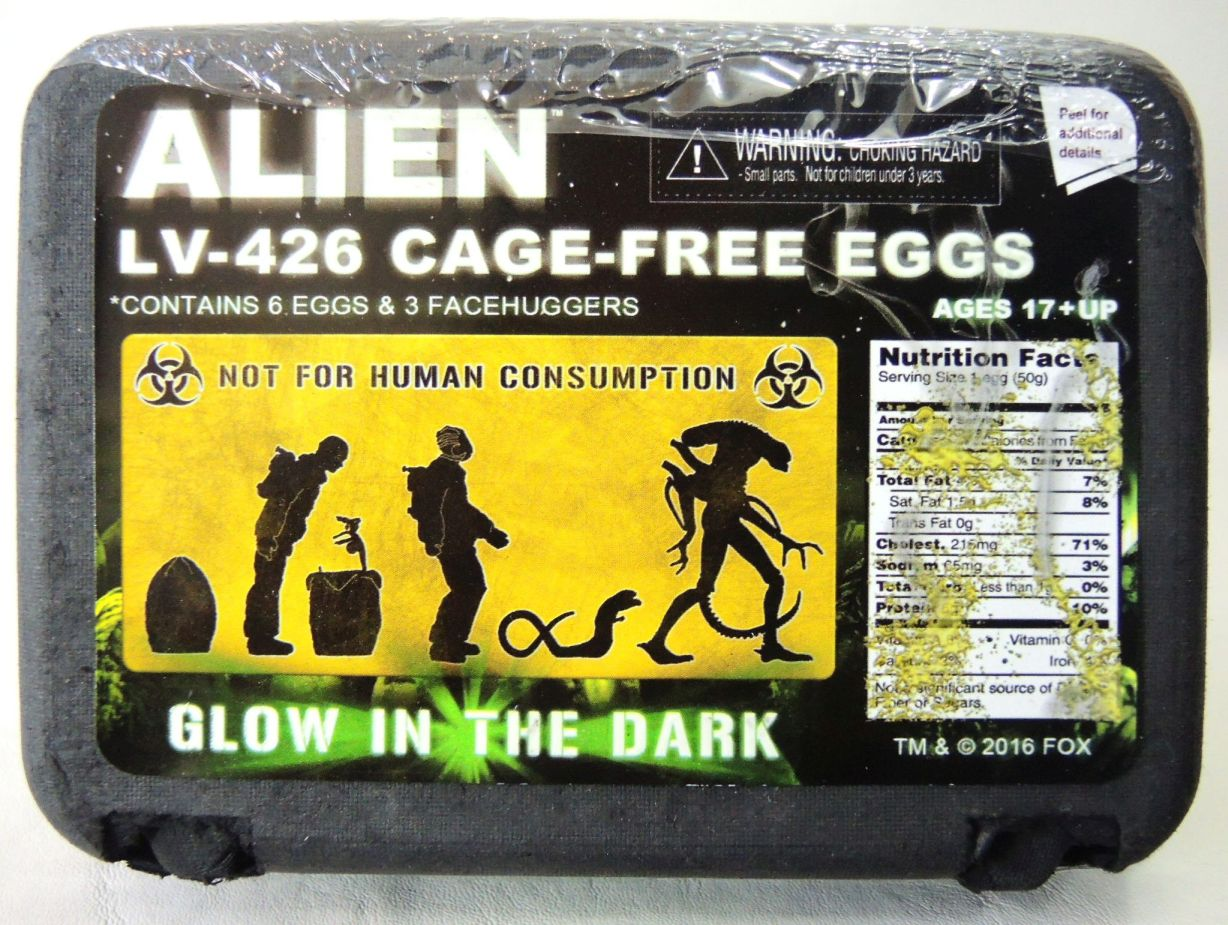 NECA Alien Egg Carton 6-pack of Glow-in-the-Dark Alien Eggs