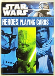 Star Wars Heroes Playing Cards Full Deck Cartamundi, Star Wars, Games, 2011, scifi, movie