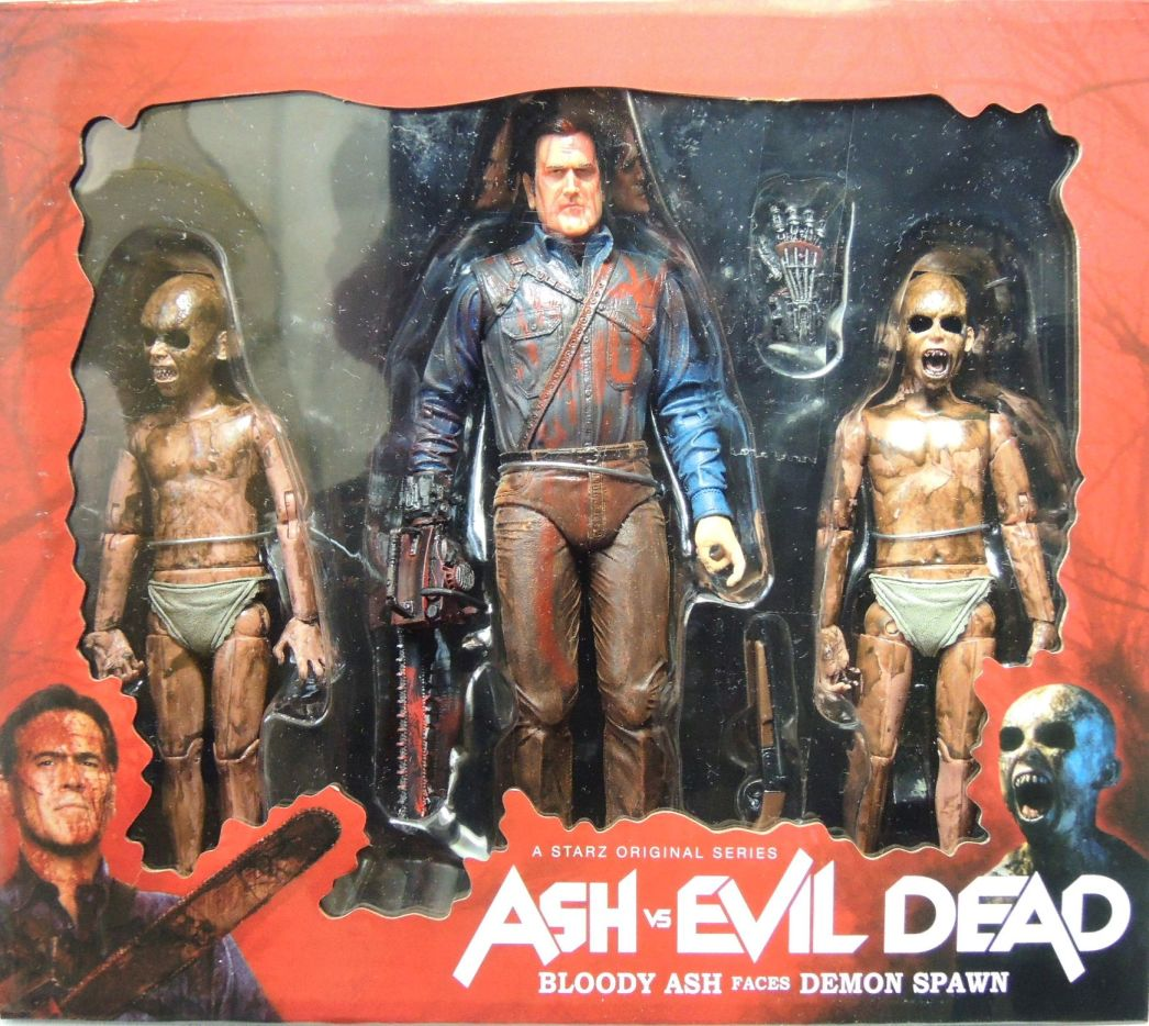 NECA Ash vs Evil Dead figure 3-pack - Bloody Ash vs Demon Spawn