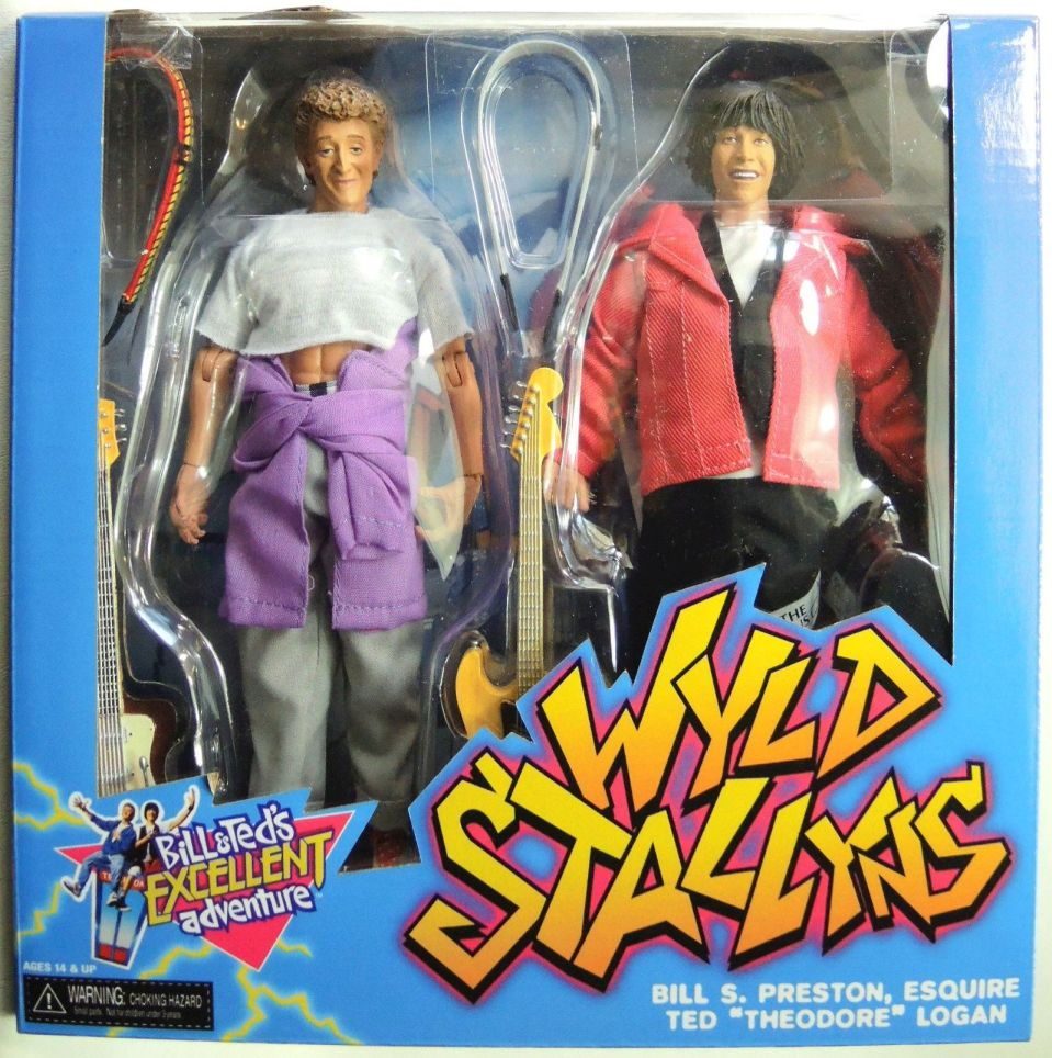 NECA Bill & Teds Excellent Adventure 8 inch Clothed Figures 2-pack