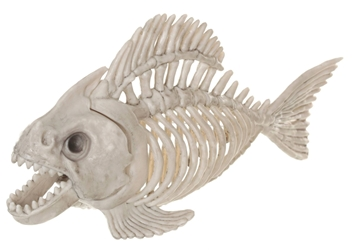 Skeleton Animal - Life-size Piranha skeleton Target, Crazy Bonez, Action Figures, 2016|Color~bone, halloween