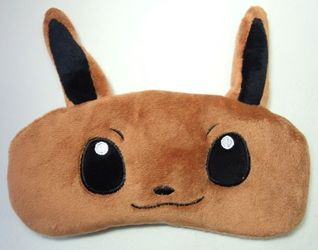 Pokemon Eevee Soothing Gel plush Sleep Mask China, Pokemon, Cosplay, 2016|Color~brown, animated, game