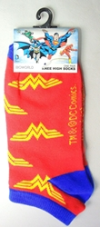 DC Comics Wonder Woman crew socks size 9-11 China, Wonder Woman, Socks, 2016|Color~red, superhero, comic book