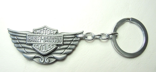 Harley-Davidson Motorcycles alloy keychain - winged logo China, Harley-Davidson, Keychains, 2016|Color~pewter
